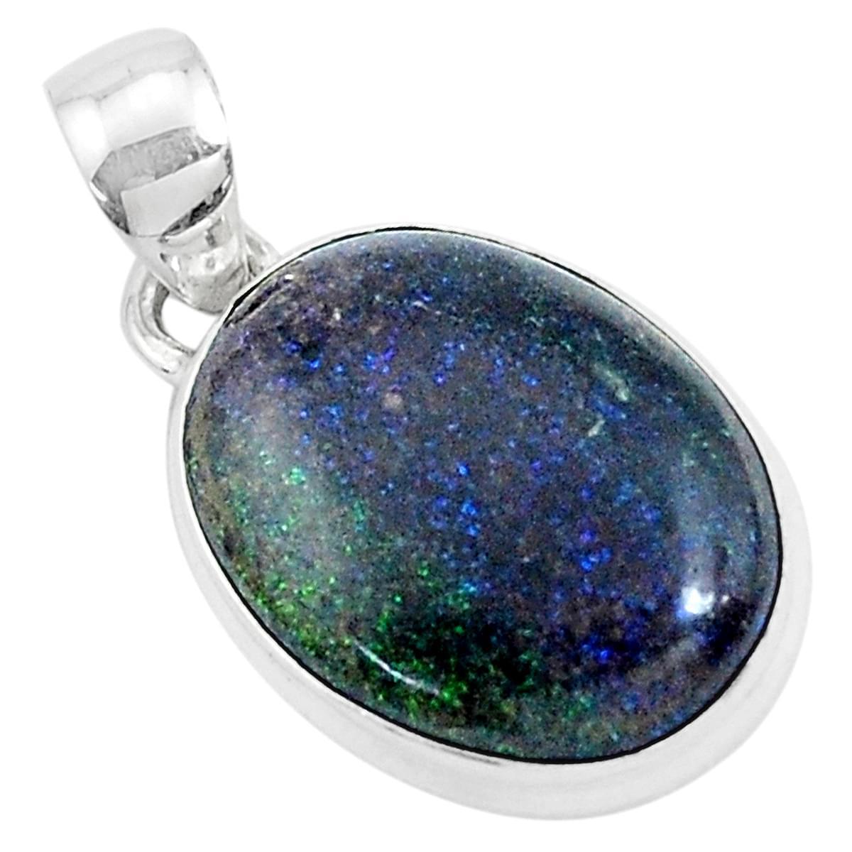 Natural Honduran Black Matrix Opal Gemstone Stylish Jewelry Solid 925 Sterling Silver Ring Size 10.5