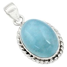 925 sterling silver 15.80cts natural blue aquamarine pendant jewelry p77875