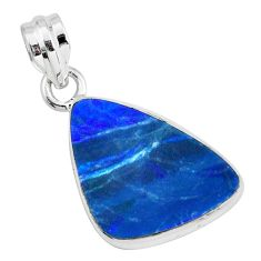 925 sterling silver 8.91cts natural blue doublet opal australian pendant p67835