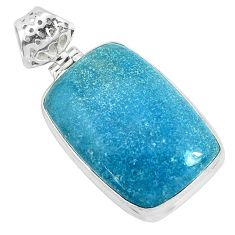 925 sterling silver 22.59cts natural blue dumortierite pendant jewelry p34124