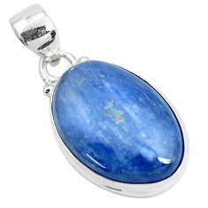 925 sterling silver 17.55cts natural blue kyanite fancy pendant jewelry p47243