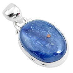925 sterling silver 16.73cts natural blue kyanite fancy pendant jewelry p47255