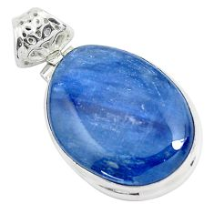 925 sterling silver 22.02cts natural blue kyanite fancy pendant jewelry p47276