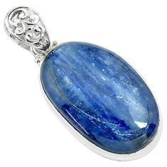 925 sterling silver 35.53cts natural blue kyanite fancy pendant jewelry p71924