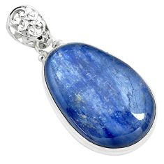 925 sterling silver 35.53cts natural blue kyanite fancy pendant jewelry p71936