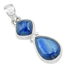 925 sterling silver 8.22cts natural blue kyanite pear pendant jewelry p67324
