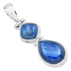 925 sterling silver 8.54cts natural blue kyanite pear pendant jewelry p67337