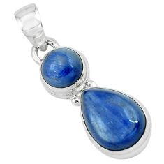 925 sterling silver 8.21cts natural blue kyanite pendant jewelry p67347