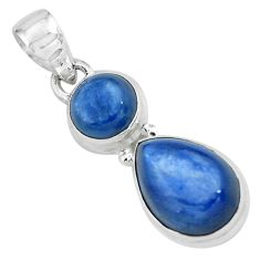 925 sterling silver 8.22cts natural blue kyanite pendant jewelry p67354