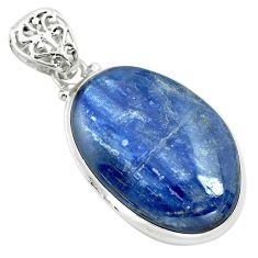 925 sterling silver 28.73cts natural blue kyanite pendant jewelry p71927