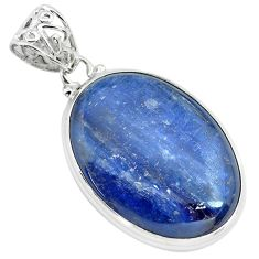 925 sterling silver 32.73cts natural blue kyanite pendant jewelry p71939