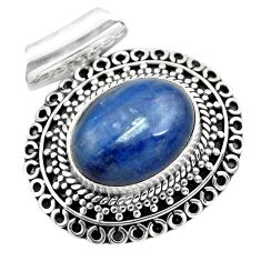 925 sterling silver 11.02cts natural blue kyanite pendant jewelry p86703