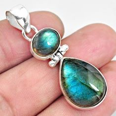 925 sterling silver 15.67cts natural blue labradorite pendant jewelry p87711