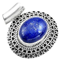 925 sterling silver 10.23cts natural blue lapis lazuli pendant jewelry p86649