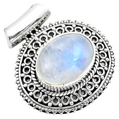 925 sterling silver 8.27cts natural blue lapis lazuli pendant jewelry p86660