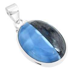 925 sterling silver 24.00cts natural blue owyhee opal pendant jewelry p46167