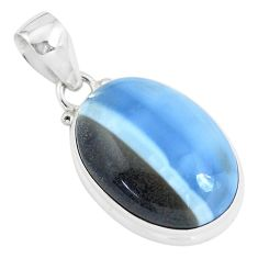 925 sterling silver 16.20cts natural blue owyhee opal pendant jewelry p46170
