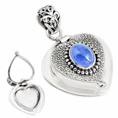925 sterling silver 2.96cts natural blue tanzanite oval pendant jewelry p44894