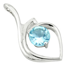 925 sterling silver 2.78cts natural blue topaz pendant jewelry p83912