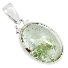 925 sterling silver 17.57cts natural brown scenic lodolite pendant p79052