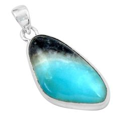 925 sterling silver 17.57cts natural green boulder amazonite pendant p59518
