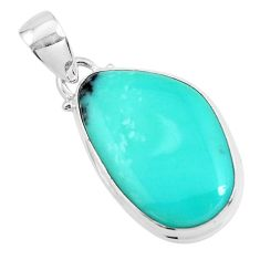 925 sterling silver 15.08cts natural green campitos turquoise pendant p46474