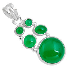 925 sterling silver 15.97cts natural green chalcedony pendant jewelry p89240
