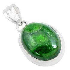 925 sterling silver 18.68cts natural green chrome diopside pendant p47212