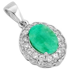 925 sterling silver 5.06cts natural green emerald topaz pendant jewelry a96398