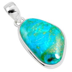 925 sterling silver 14.14cts natural green opaline fancy pendant jewelry p42573