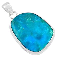 925 sterling silver 18.70cts natural green opaline fancy pendant jewelry p59378