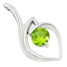 925 sterling silver 2.95cts natural green peridot pendant jewelry p83908