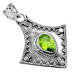 925 sterling silver 2.41cts natural green peridot pendant jewelry p86357