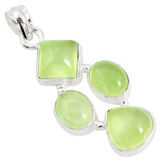925 sterling silver 16.92cts natural green prehnite pendant jewelry p34028