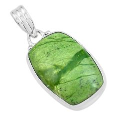 925 sterling silver 13.70cts natural green swiss imperial opal pendant p59624