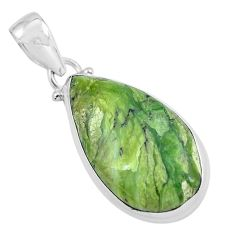 925 sterling silver 16.18cts natural green swiss imperial opal pendant p59632
