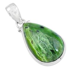 925 sterling silver 15.65cts natural green swiss imperial opal pendant p59637