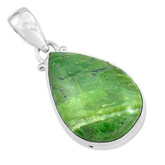 925 sterling silver 14.72cts natural green swiss imperial opal pendant p59640
