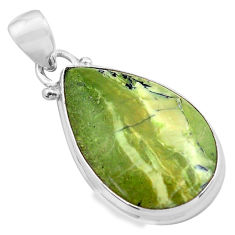925 sterling silver 12.58cts natural green swiss imperial opal pendant p85572