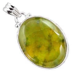 925 sterling silver 19.23cts natural green vasonite pendant jewelry p85207