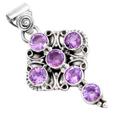 925 sterling silver 6.03cts natural purple amethyst holy cross pendant p59884