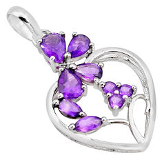925 sterling silver 7.82cts natural purple amethyst pendant jewelry p82059