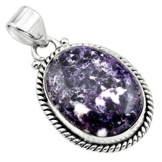 925 sterling silver 16.55cts natural purple lepidolite pendant jewelry p85524