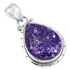 925 sterling silver 13.20cts natural purple lepidolite pendant jewelry p90496