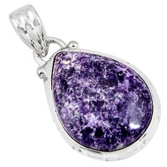 925 sterling silver 10.65cts natural purple lepidolite pendant jewelry p90500