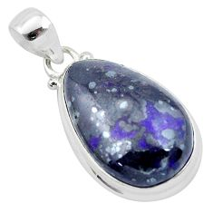 925 sterling silver 20.96cts natural purple sugilite pendant jewelry p53458