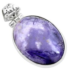 925 sterling silver 22.59cts natural purple tiffany stone pendant jewelry p41233