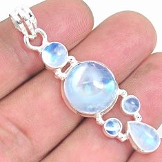 925 sterling silver 14.37cts natural rainbow moonstone pendant jewelry p39855