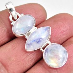 925 sterling silver 14.90cts natural rainbow moonstone pendant jewelry p92238