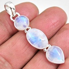 925 sterling silver 12.14cts natural rainbow moonstone pendant jewelry p92250